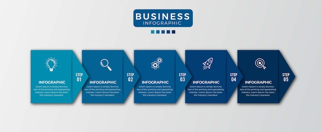 Optie nummer 5 infographic ontwerp Premium Vector
