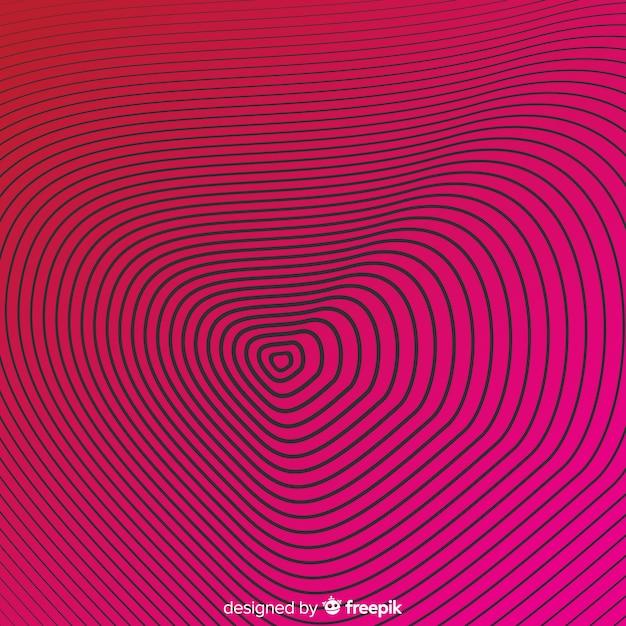 Optische illusie effect achtergrond Gratis Vector