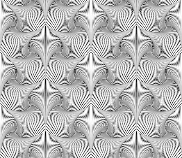 Optische illusie lijnen patroon Gratis Vector