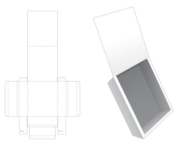 Opvouwbare flip-box gestanst sjabloon Premium Vector