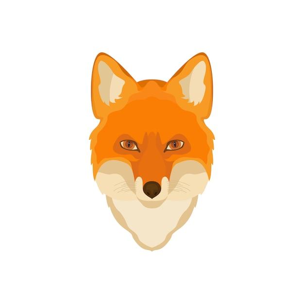 Orange fox-hoofd. Premium Vector