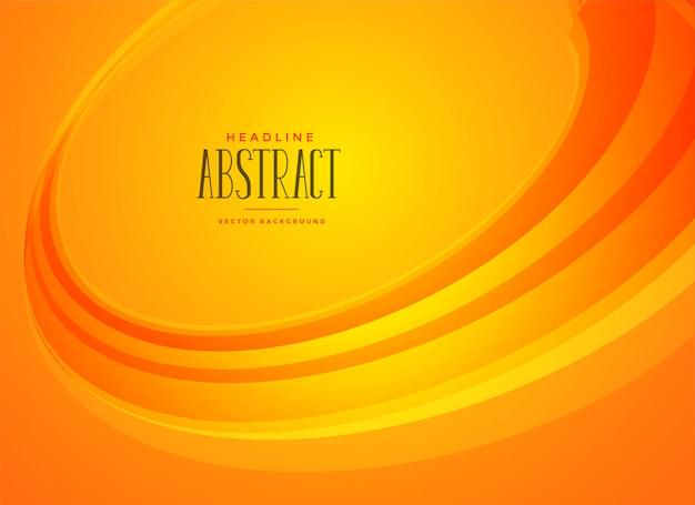 Oranje achtergrond met golvende vorm Gratis Vector