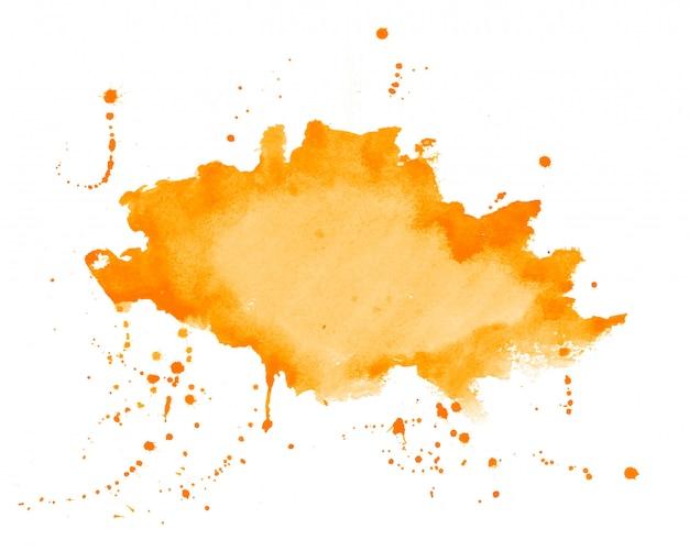 Oranje aquarel splatter vlek textuur achtergrond Gratis Vector