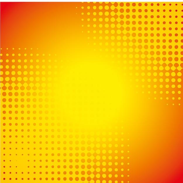 Oranje behangillustratie Gratis Vector