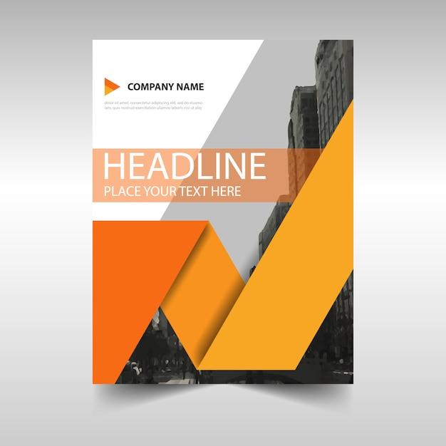 Graduation Book Cover Design ~ Oranje creatieve jaarverslag cover van het boek template