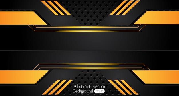 Oranje geel en zwart abstract zakelijke achtergrond Premium Vector