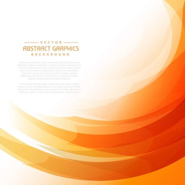 Oranje golvende achtergrond met abstracte vormen Gratis Vector