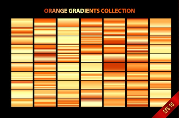 Oranje gradiënten collectie Premium Vector