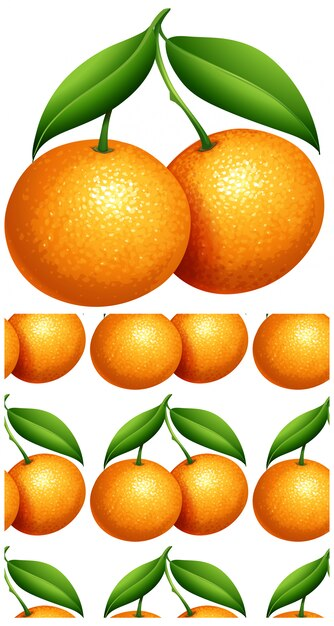 Oranje naadloos patroon Gratis Vector