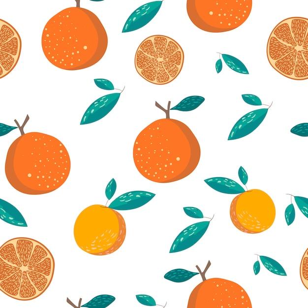 Oranje naadloos patroon Premium Vector