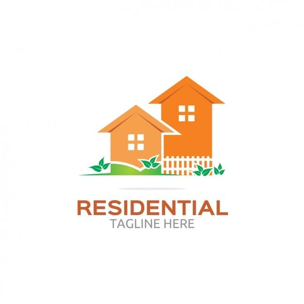 Oranje residentiële logo Gratis Vector