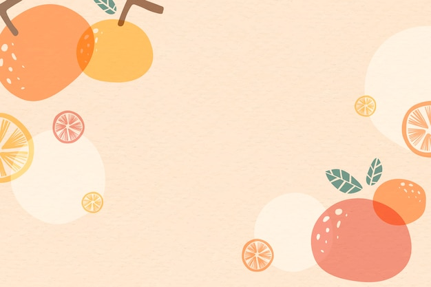 Oranje zomer achtergrond Gratis Vector
