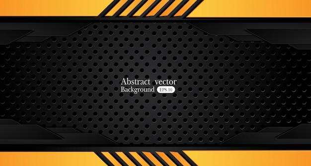 Oranjegele en zwarte abstracte bedrijfsachtergrond vectorontwerp. Premium Vector