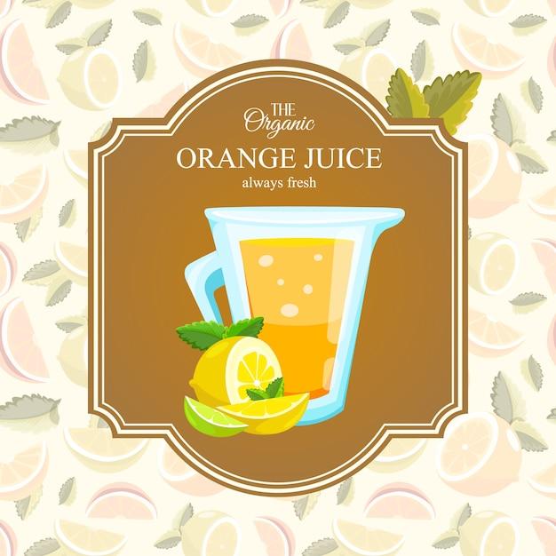 Organisch sinaasappelsap Gratis Vector