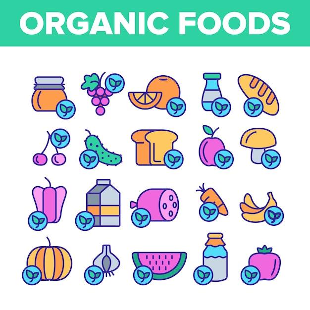 Organisch voedsel Premium Vector
