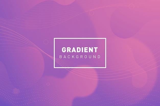 Organische achtergrond met kleurovergang Gratis Vector