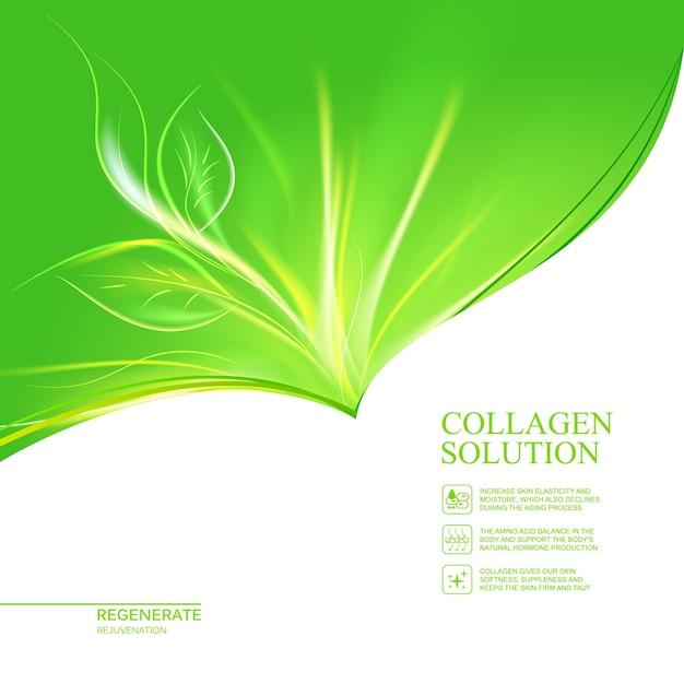 Organische cosmetica en huidverzorging crème labelsjabloon. Gratis Vector