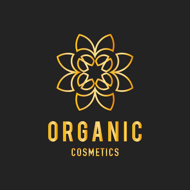 Organische cosmetica ontwerp logo vector Gratis Vector