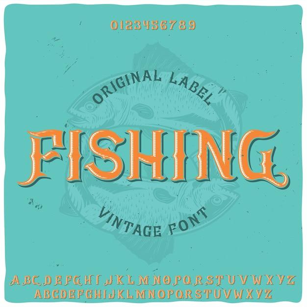 Origineel labeltype met de naam 'vissen' Gratis Vector