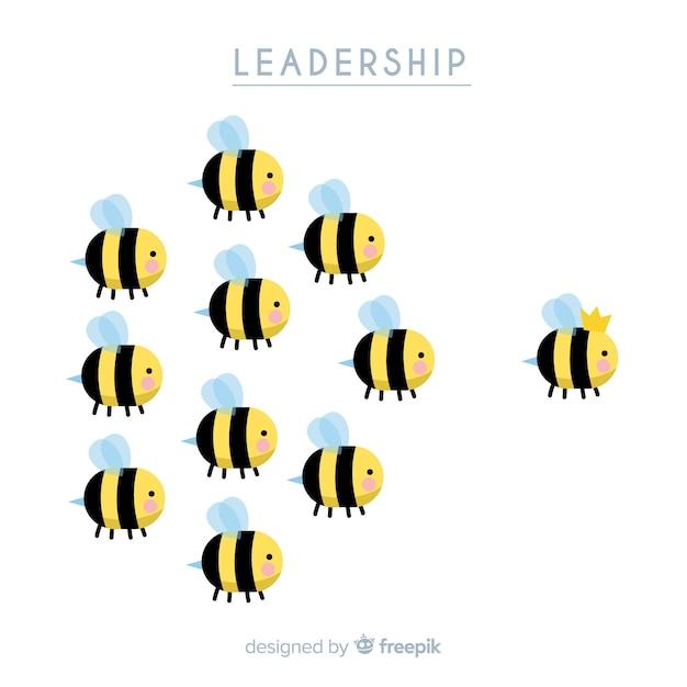Originele hand getrokken leiderschapssamenstelling Gratis Vector
