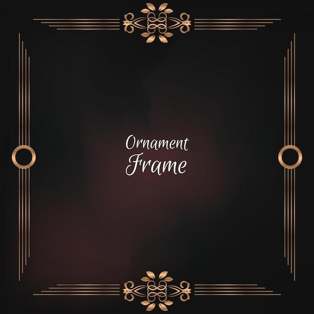 Ornament floral frame achtergrond Premium Vector