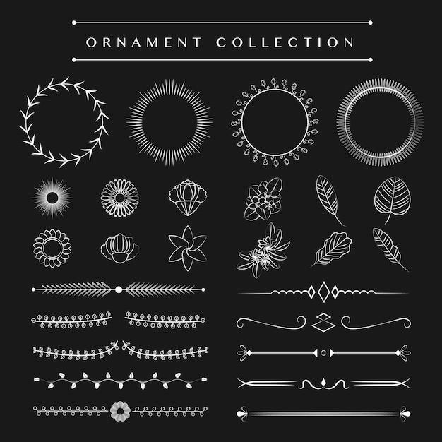 Ornamenten collectie vector ontwerpconcept Gratis Vector