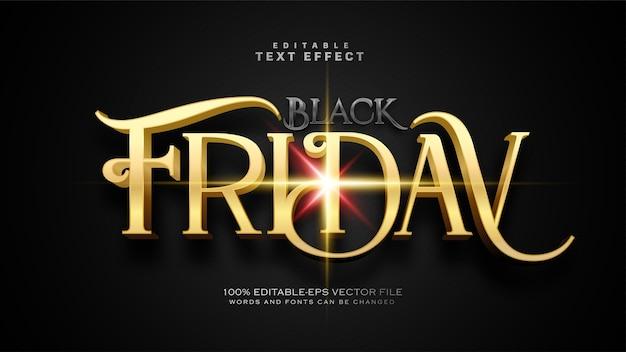 Oud black friday-teksteffect Gratis Vector