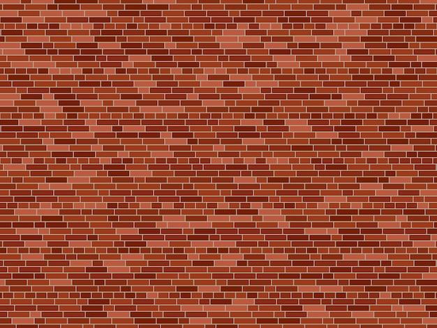 Oude bakstenen muur achtergrond. vector bakstenen muur textuur Premium Vector