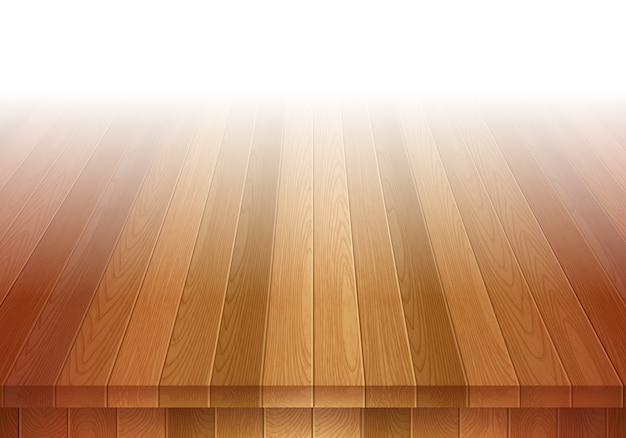Oude bruine houten vloer. stage achtergrond. Premium Vector