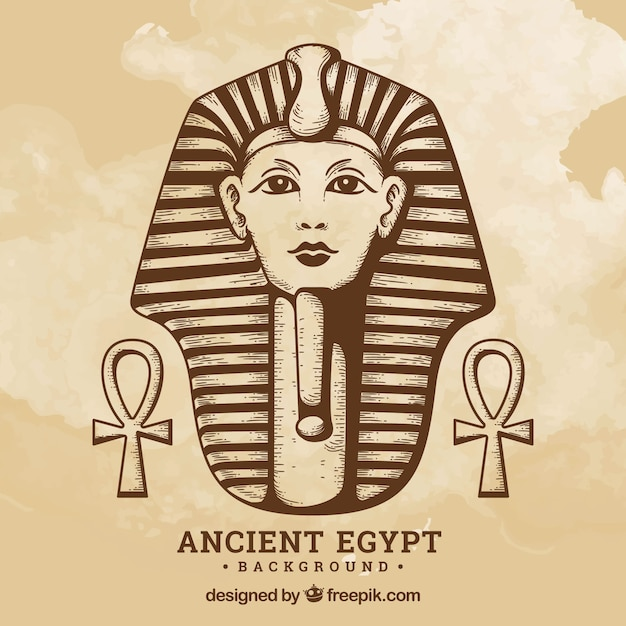 Oude egypte achtergrond Gratis Vector