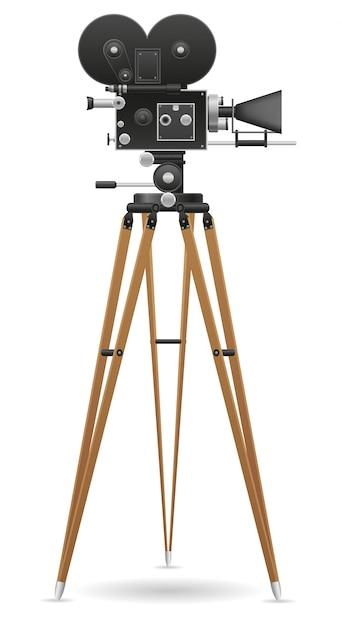 Oude filmcamera. Premium Vector
