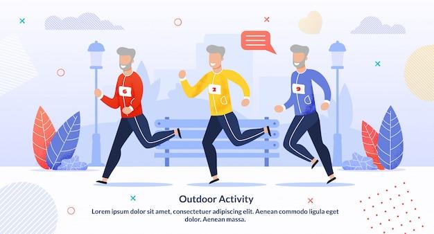 Outdoor activiteit voor ouderen motivatie infographic Premium Vector