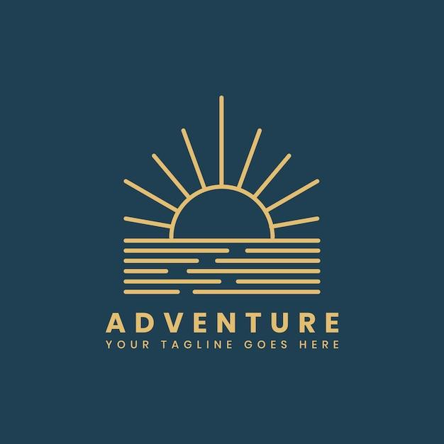 Outdoor avontuur logo badge sjabloon Gratis Vector
