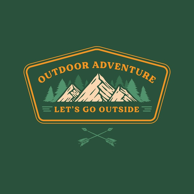 Outdoor badge Premium Vector