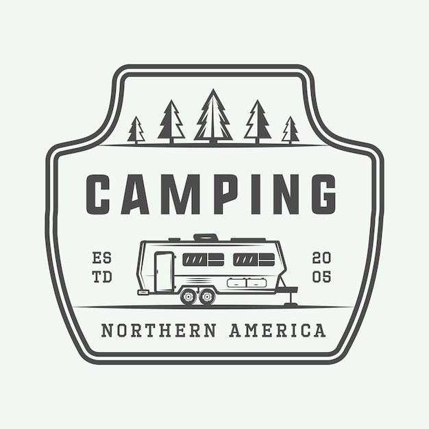 Outdoor campinglogo Premium Vector