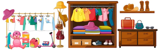 Outfit accessoires object display Gratis Vector
