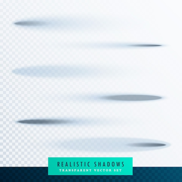 Ovaal paper transparante schaduweffect set Gratis Vector