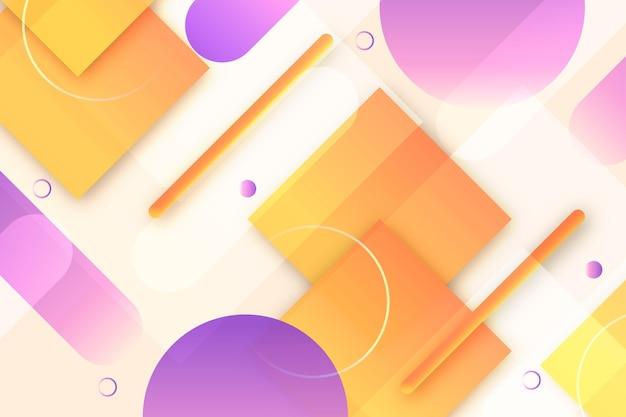 Overlappende geometrische stippen en vierkanten achtergrond Premium Vector