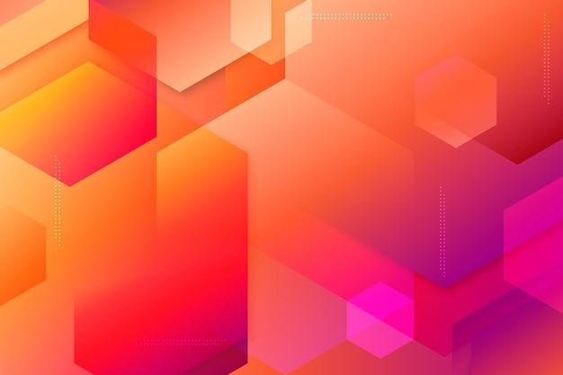 Overlappende vormen achtergrond en bokeh-effect Gratis Vector