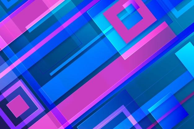 Overlappende vormen behang Gratis Vector