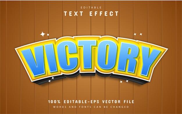 Overwinning teksteffect Premium Vector