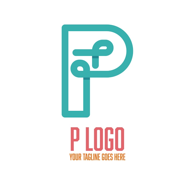 P logo flat Gratis Vector