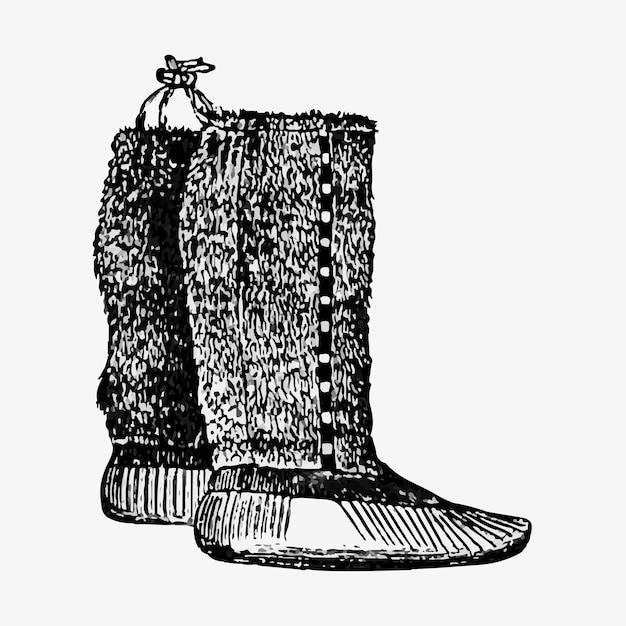 Paar eskimo-laarzen Gratis Vector