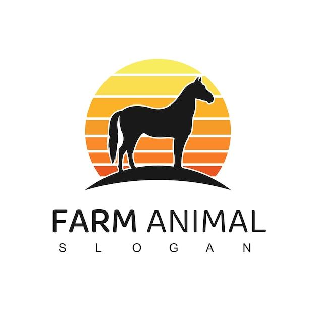Paard logo afbeelding Premium Vector
