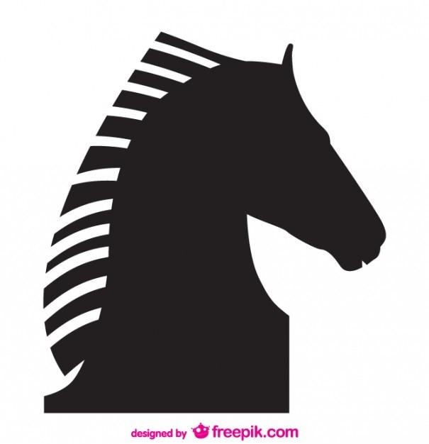 Paard vector silhouet ontwerp Gratis Vector