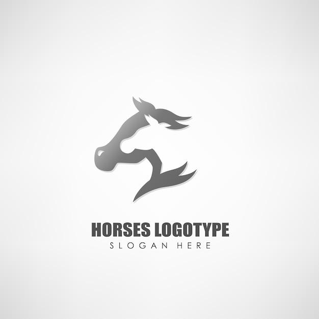 Paarden logo Premium Vector