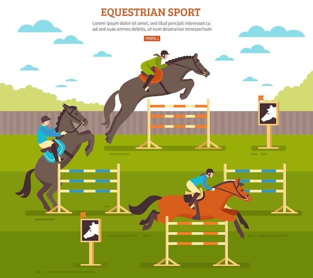 Paardensport Gratis Vector