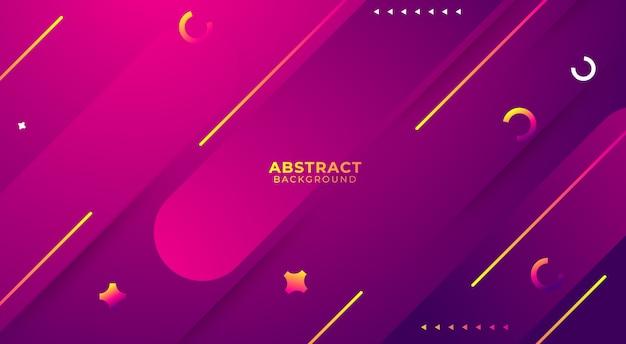 Paars abstract ontwerp als achtergrond, de samenstelling van gradiëntvormen. futuristisch ontwerp voor posters, banners. Premium Vector