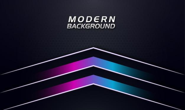 Paars en blauw kleurverloop pijlen omhoog naar op een donkere achtergrond Premium Vector