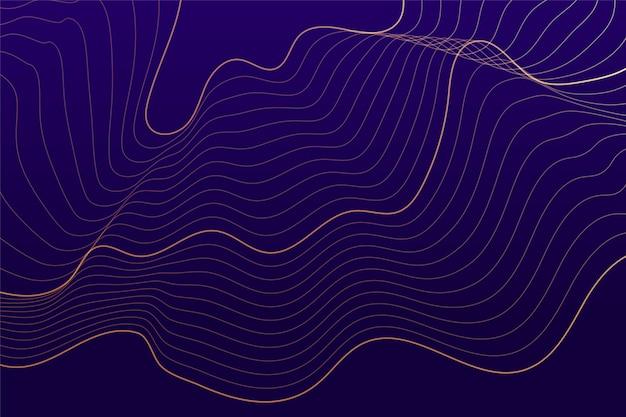 Paarse achtergrond met abstracte vloeiende lijnen Gratis Vector